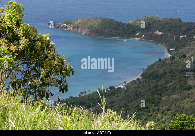 BVI Tortola Ridge Road North Shore Atlantic Ocean Anderson Point - Stock Image