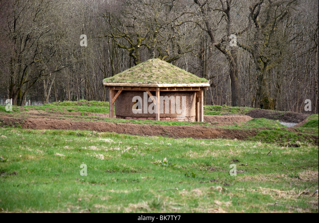 Modern Earthen Round House Dumfries House Cumnock East Ayrshire Scotland - Stock Image