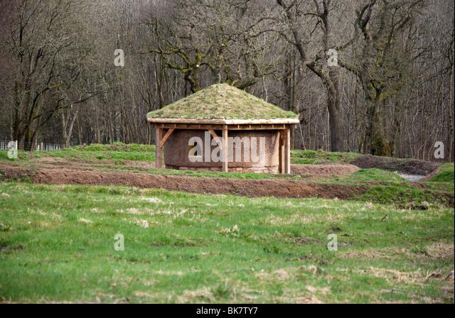 Modern Earthen Round House Dumfries House Cumnock East Ayrshire Scotland - Stock Image