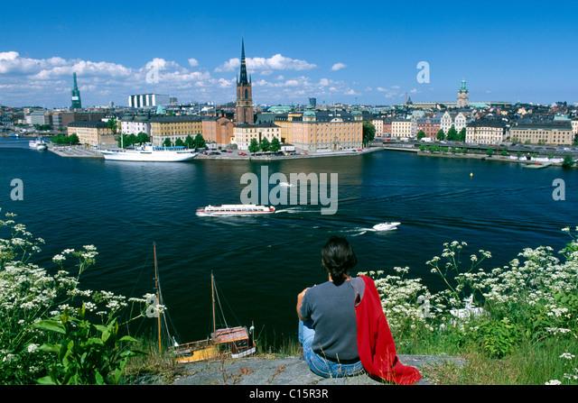 Riddarholmen or Knights' Islet, Stockholm, Sweden, Scandinavia - Stock Image