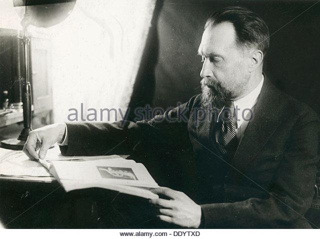 Nikolai Myaskovsky, Russian composer, 1940s. - Stock Image