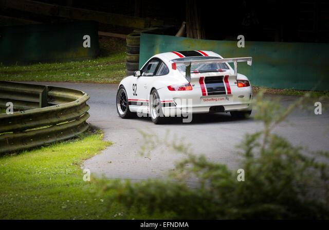 Porsche at a hill climb - Stock Image