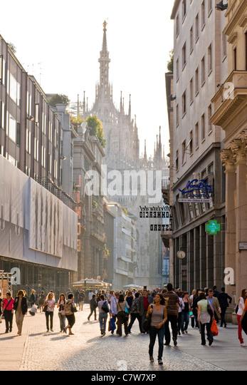 Italy, Lombardy, Milan, Corso Vittorio Emanuele - Stock Image