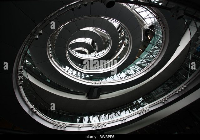 london city hall abstract spirals - Stock Image