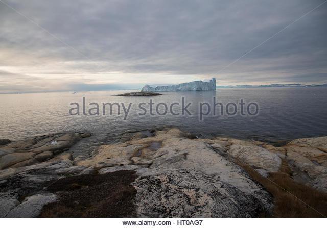 Iceberg Landscape Greenland - Stock Image
