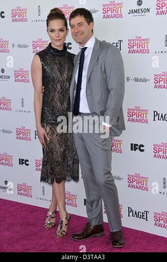 Santa Monica, California, USA. 23rd Feb, 2013. Katie Aselton, Mark Duplass attending the 2013 Film Independent Spirit - Stock Image