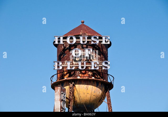 House of Blues Water Tower Downtown Disney Orlando Florida - Stock Image