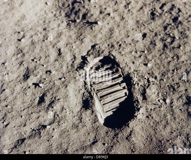Buzz Aldrins Bootprint - Stock Image