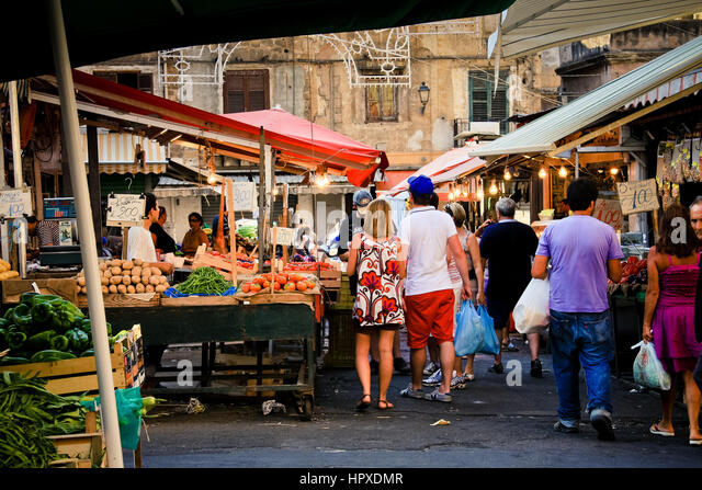 Italy, Palermo, Ballarò fruit market - Stock Image