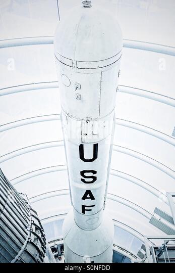 USAF rocket - Stock Image