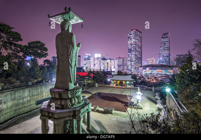 Seoul, South Korea at Bongeunsa Temple. - Stock Image