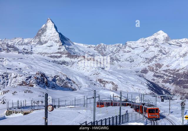 Matterhorn, Zermatt, Gornergrat, Valais, Switzerland, Europe - Stock-Bilder