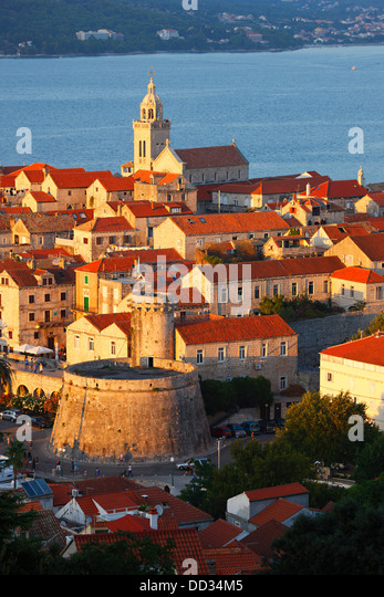 Korcula, old town - Stock Image