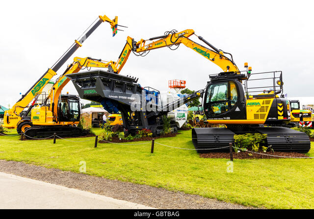 Telescopic Forklift Long Reach Excavator Abba plant hire machinery UK England GB - Stock Image