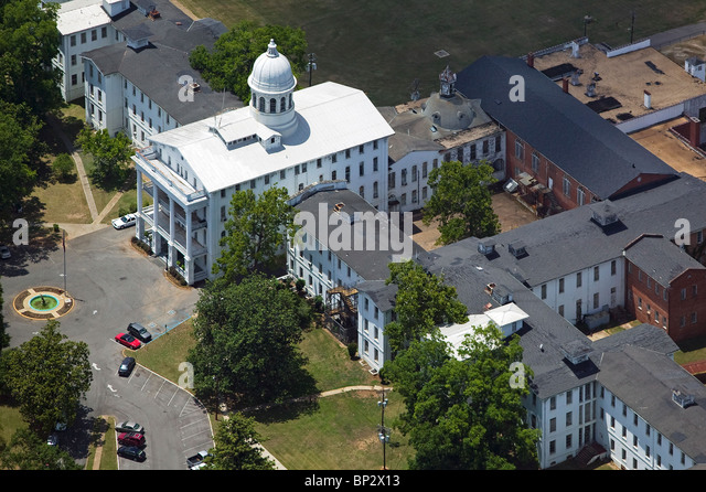 aerial view above Tuscaloosa Alabama - Stock Image