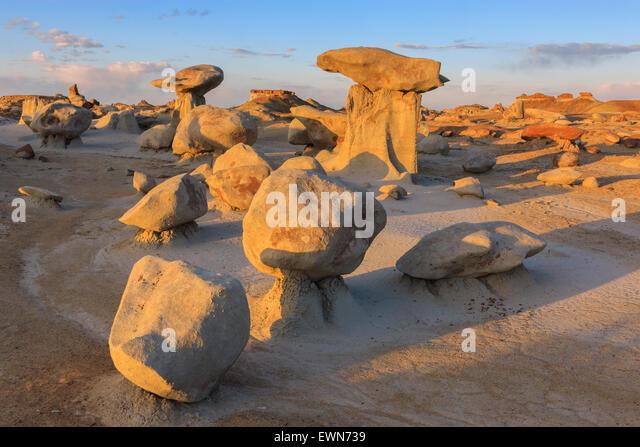 Bisti Wilderness, De-Na-Zin, New Mexico, USA - Stock Image