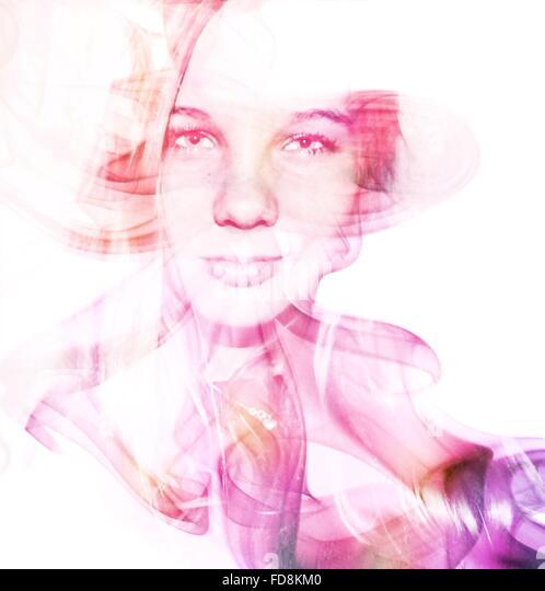 Digital Composite Of Woman - Stock Image