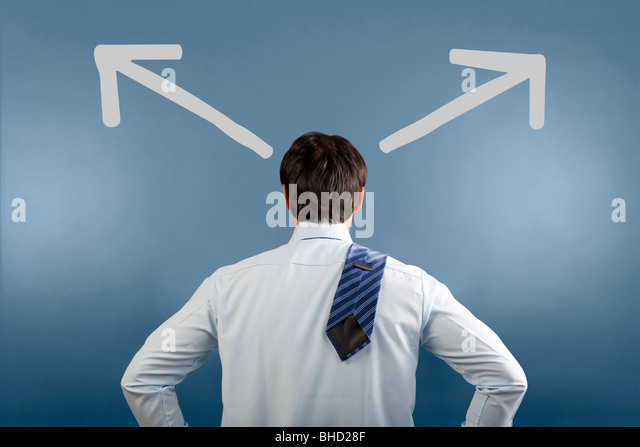 Man in a confused state - Stock Image