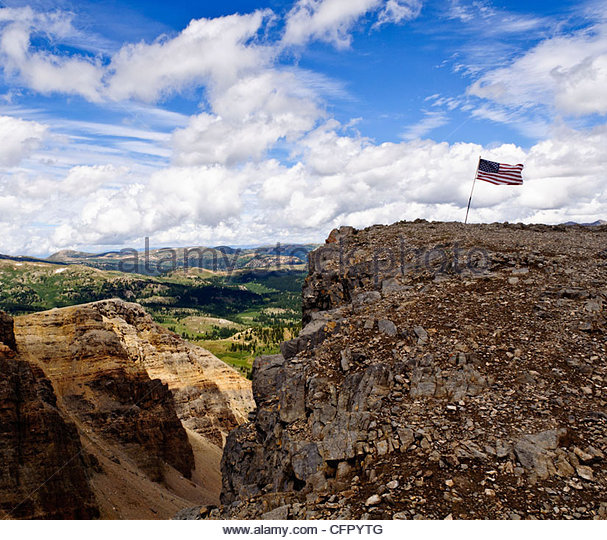 View from American Flag Mountain, Elk Mountain Range, Reno Divide Trail, Colorado, Aug 8, 2010 - Stock Image