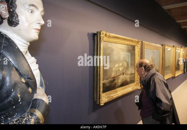 UK, England, Liverpool, Maritime Museum, paintings, - Stock Image