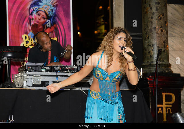 Liverpool, UK. Friday 13th. June 2014: The launch of the annual Brazilian style festival opens at the Alma de Cuba - Stock Image