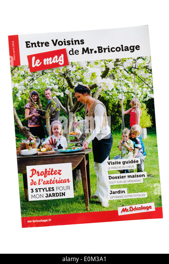 A catalogue for French DIY shops Mr Bricolage. - Stock Image