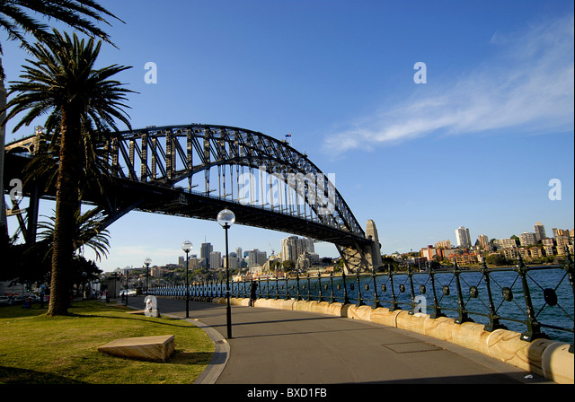 Harbour Bridge in Sydney, Australia - Stock Image