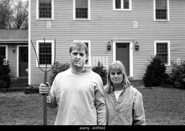 A comparison of the american gothic and fall plowing