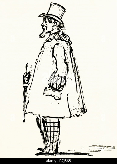 Charles Dickens by Spy 1870 sketch of the great author four months before his death by Leslie Ward - Stock-Bilder