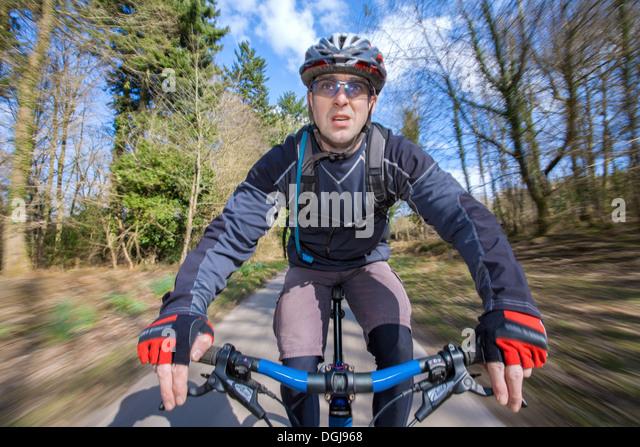 Male mountain biker. - Stock Image