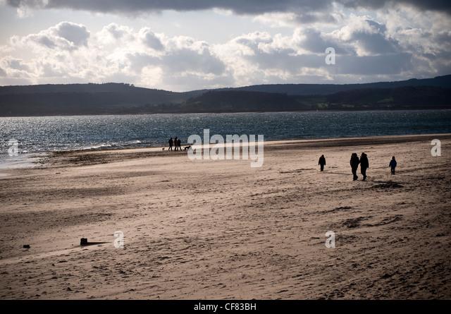 Exmouth beach,Devon,Coastline,coast, poor water quality 2012,surfers against sewage,bathing resort,sewage overflows,blue - Stock Image
