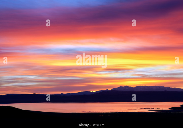 Sunset over Mono Lake, California - Stock Image