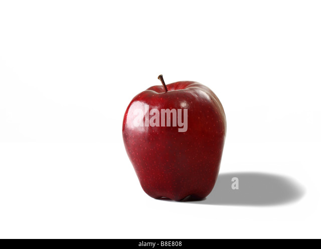 Fresh Organic Red Apple - Stock Image