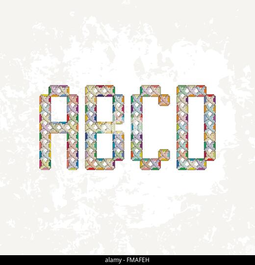Knitting Embroidery Letters : Embroidery alphabet stock photos