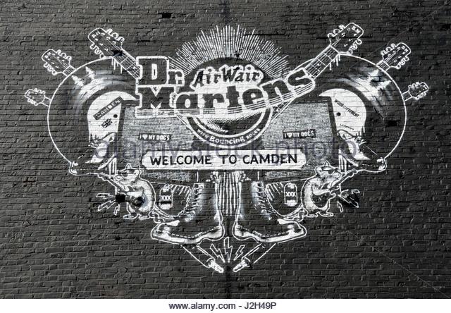 Dr martens in union jack camden high street camden town nw1 stock - Doc Martens Camden Stock Photos Amp Doc Martens Camden Stock