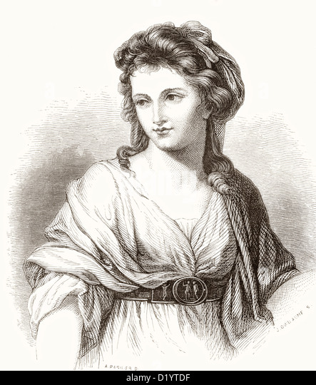 Maria Anna Angelika or Angelica Katharina Kauffman, 1741 –1807. Swiss-Austrian Neoclassical artist. - Stock Image