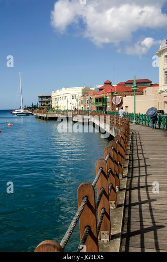 Bridgetown Barbados Boardwalk - Stock Image