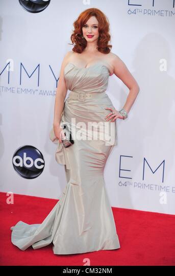 Christina Hendricks arrivals64th Primetime Emmy Awards - ARRIVALS Nokia Theatre L.A LIVE Los Angeles CA September - Stock Image