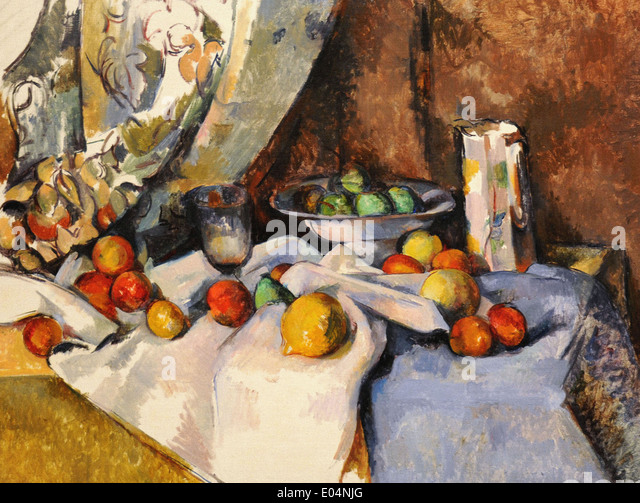 Paul Cézanne Still Life with Apples - Stock Image
