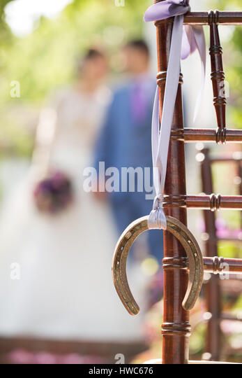 bride and groom on wedding day - Stock Image
