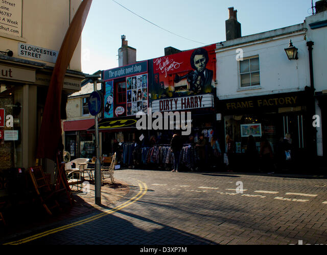 Junction of Sydney Street and Gloucester Street, North Laine area of Brighton, East Sussex - Stock Image
