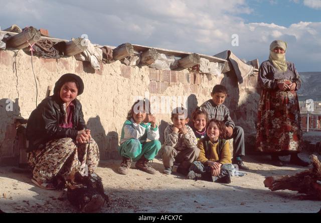 Turkey Cappadocia Avanos families dwelling - Stock Image