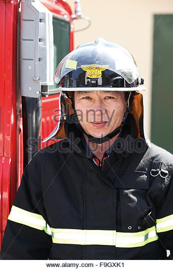 Firefighter - Stock Image
