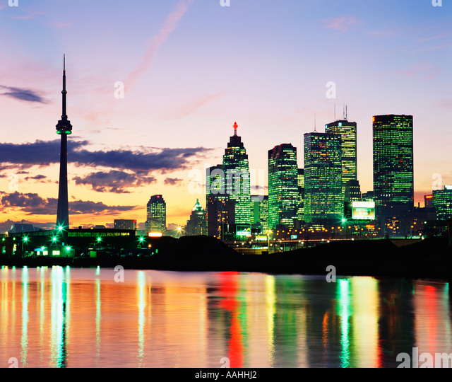 CANADA  TORONTO  CN TOWER  SKYLINE - Stock Image