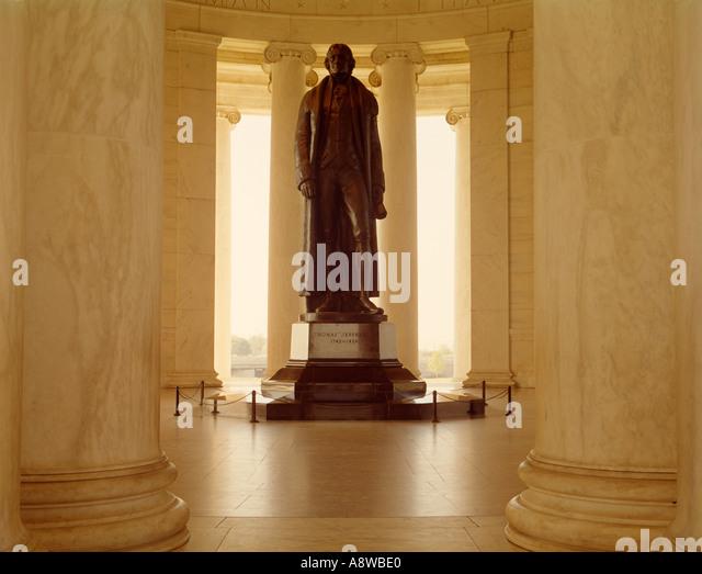 Jefferson Memorial in Washington D C USA - Stock Image