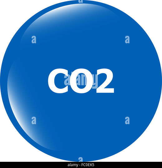 carbon dioxide web app icon, web button - Stock Image