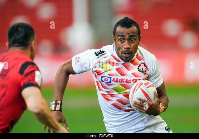 Kameli Soejima (JPN), APRL 16, 2016 - Rugby : HSBC Sevens World Series, Singapore Sevens match Japan and Wales at - Stock-Bilder