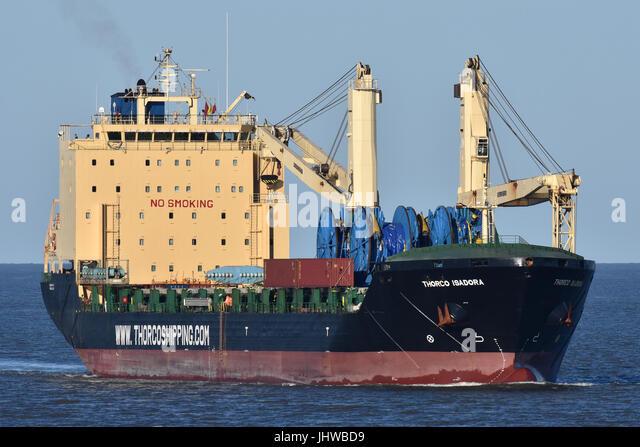 Thorco Isadora passing Cuxhaven bound for Hamburg - Stock Image