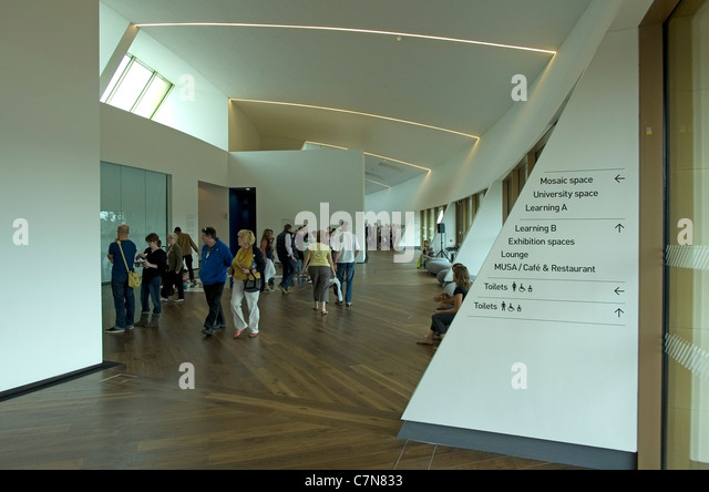 Firstsite exhibition space - Stock Image