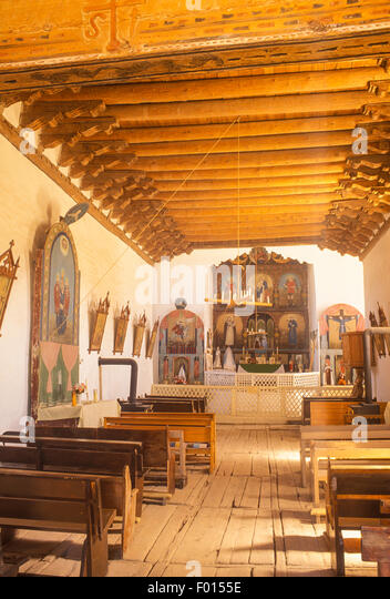 Church of San Jose de Gracia, Las Trampas, New Mexico - Stock Image